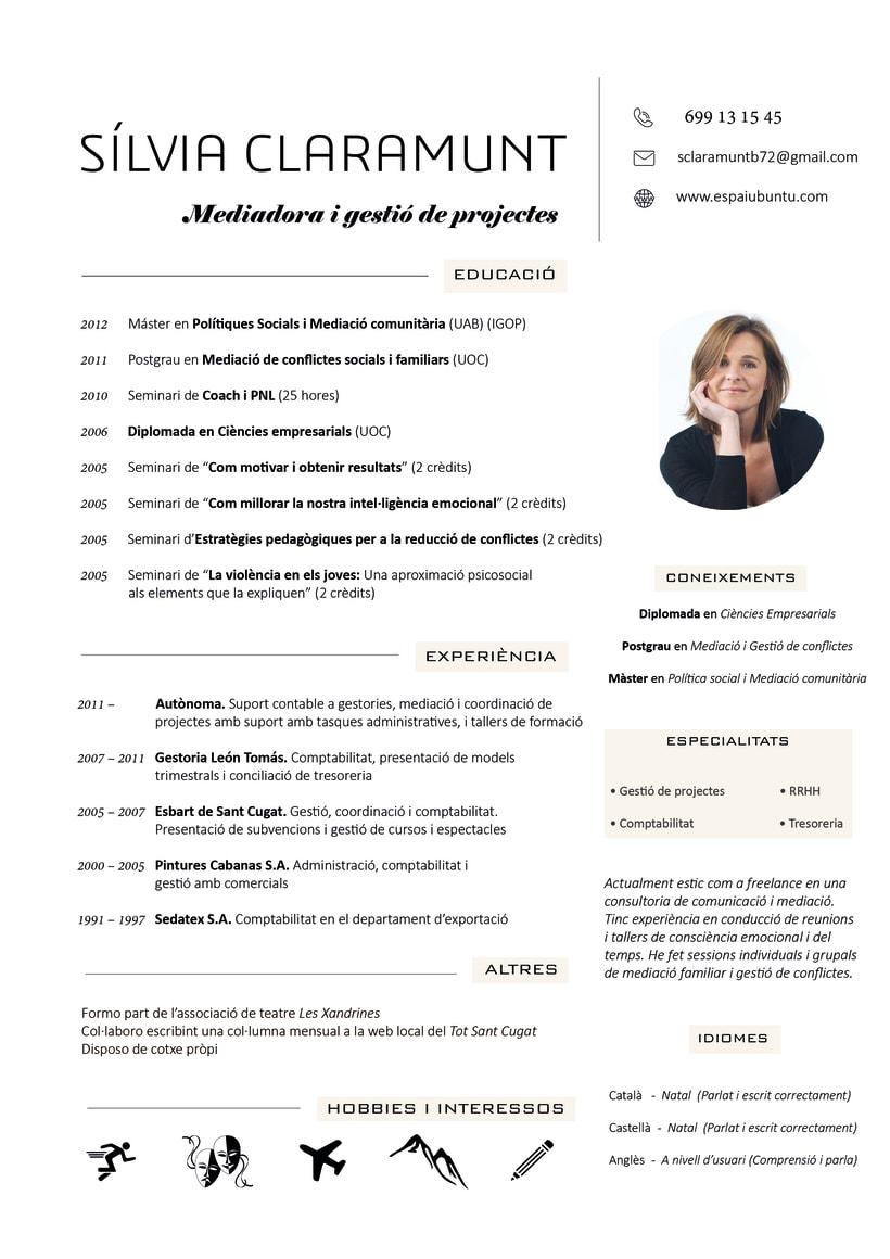 Diseño de un Currículum Vitae + Presentación de Proyectos  0