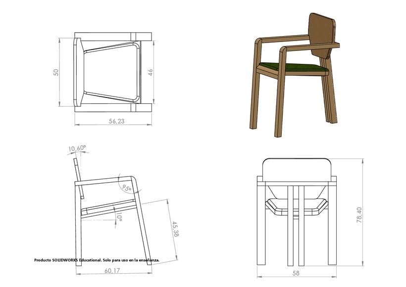 Diseño de mobiliario. Diseño de una silla confidente  9