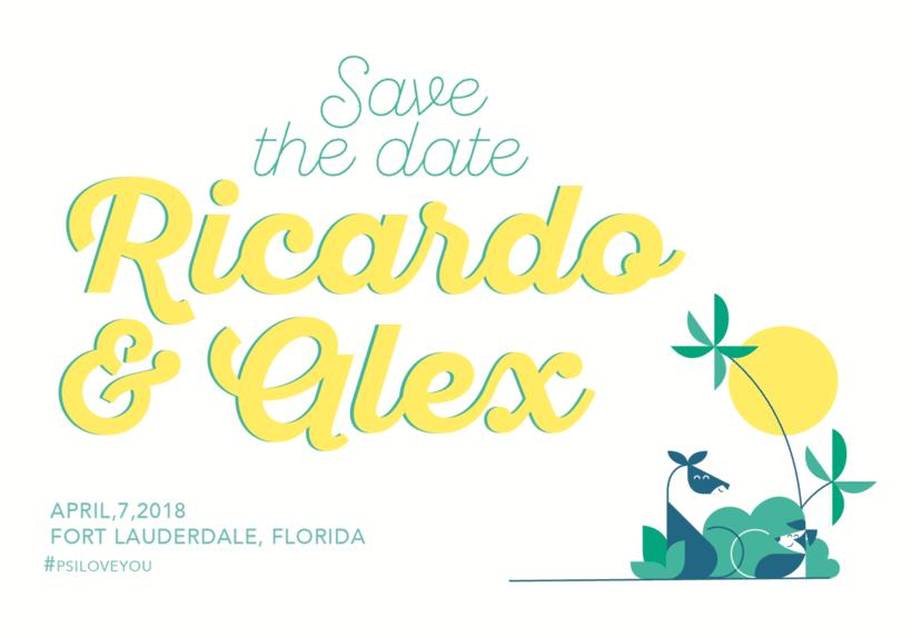 Save the date, Ricardo & Alex 23