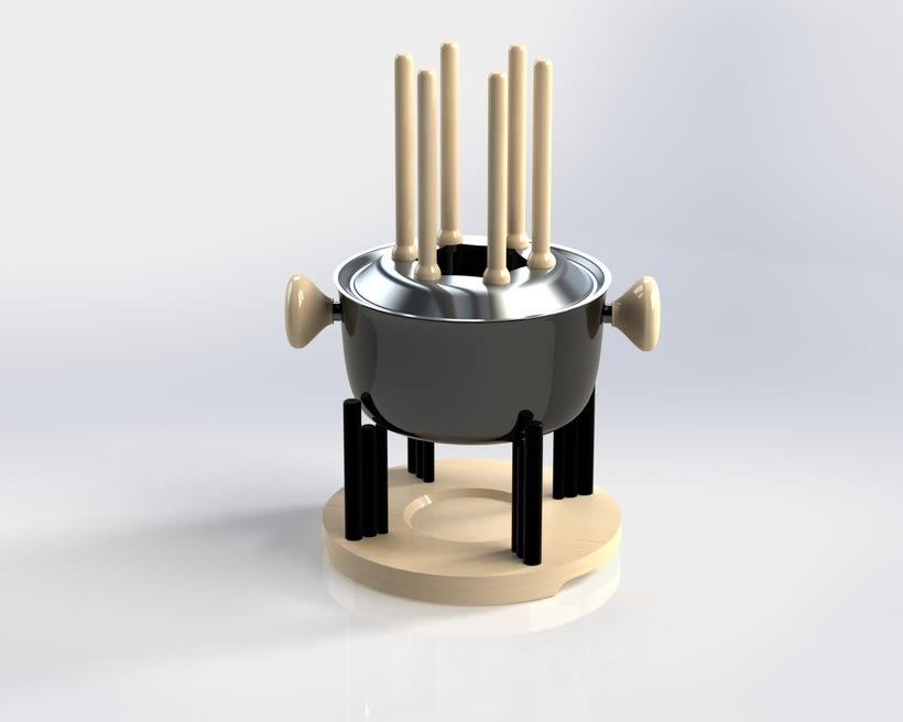 Renderización de una fondue  4