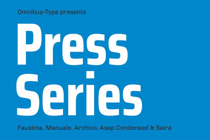 Press Series, las tipografías libres de Omnibus-Type 9