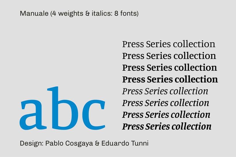 Press Series, las tipografías libres de Omnibus-Type 8