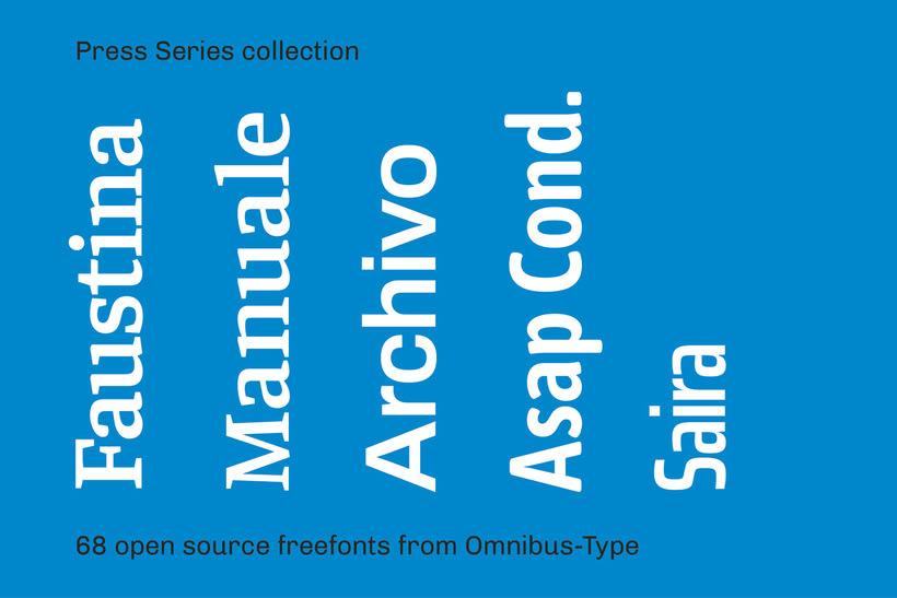 Press Series, las tipografías libres de Omnibus-Type 7