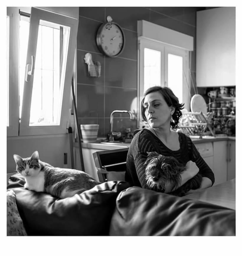 En Casa. Proyecto de retratos en blanco y negro.  0