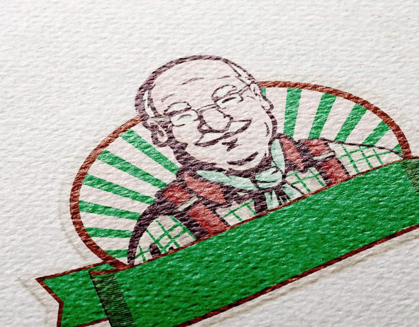 Ilustración para de marca de productos orgánicos. 3