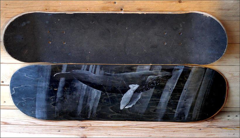 Colección de tablas de skate pintadas a mano. Skate art. 0