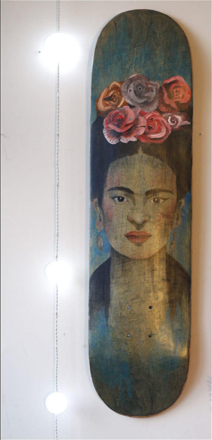 Colección de tablas de skate pintadas a mano. Skate art. 1