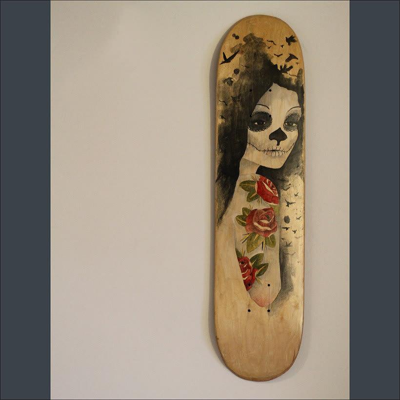 Colección de tablas de skate pintadas a mano. Skate art. 3