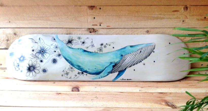 Colección de tablas de skate pintadas a mano. Skate art. 5