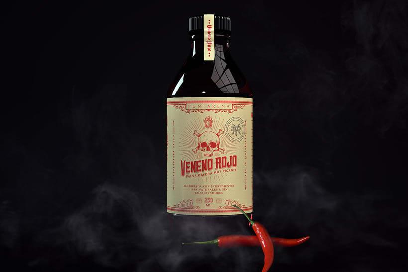 Veneno Rojo-Salsa picante 1