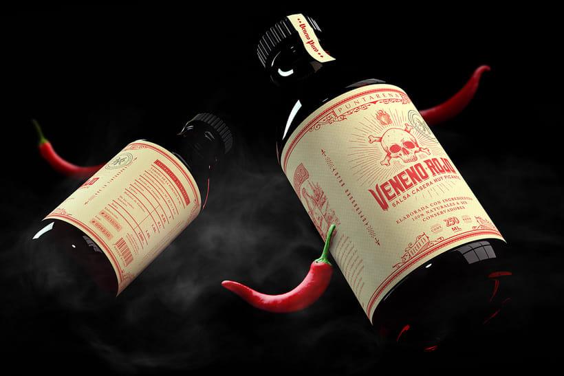 Veneno Rojo-Salsa picante 3