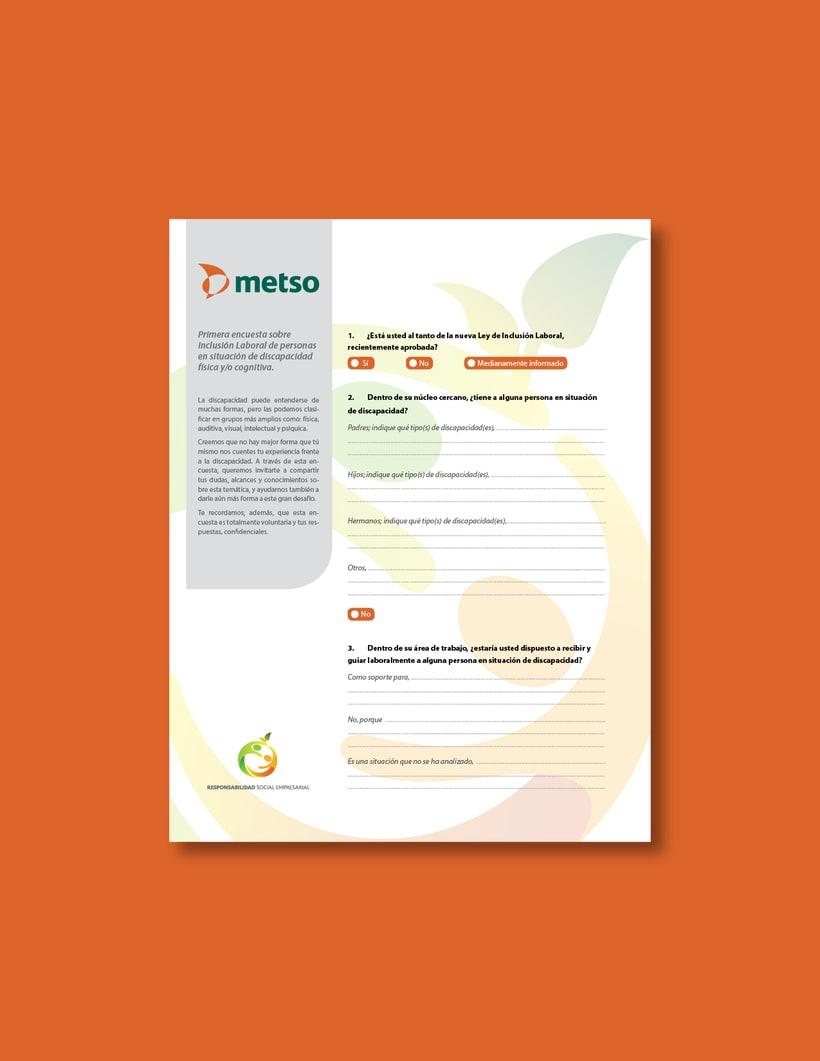 Metso | Diseño para papelería y recursos digitales. 0