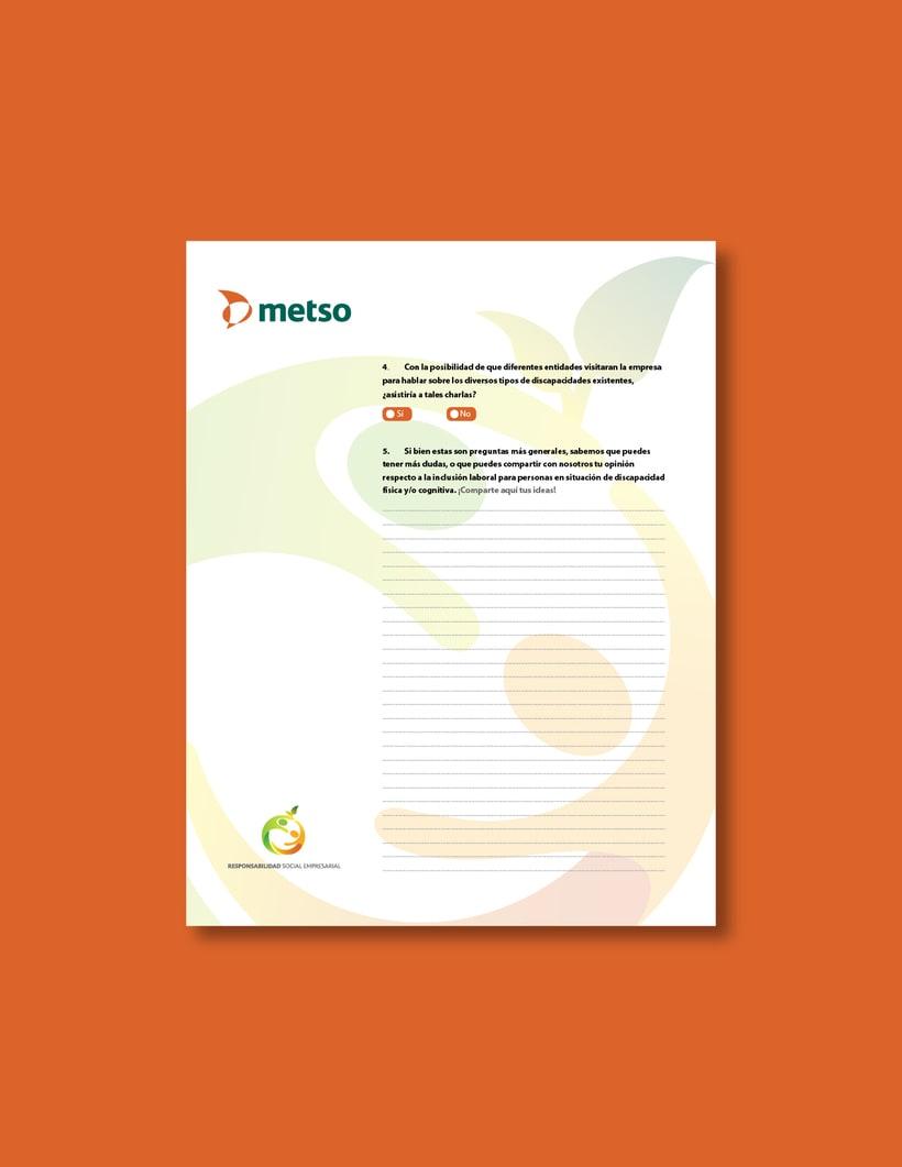 Metso | Diseño para papelería y recursos digitales. 1