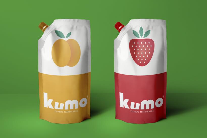 Kumo - Zumo de frutas naturales - Identidad 4