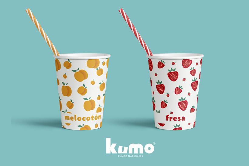Kumo - Zumo de frutas naturales - Identidad 6