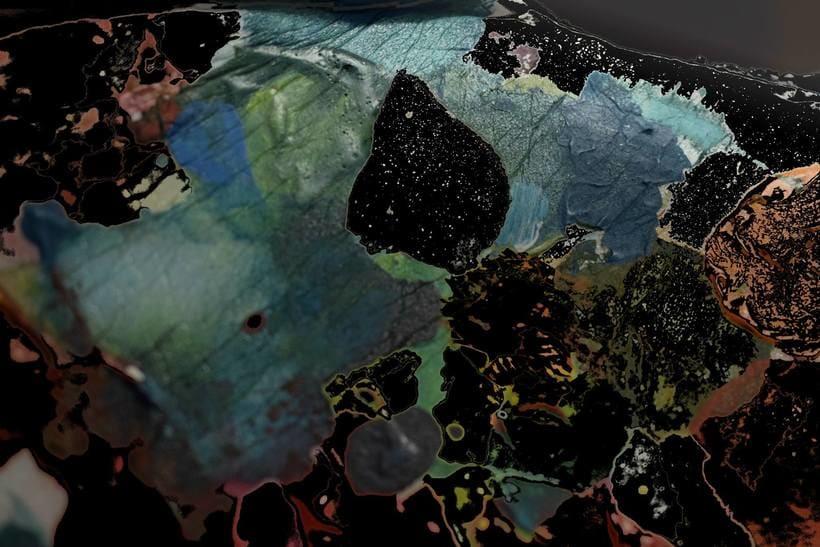 """""""Planetas"""" (Técnica mixta) 3"""