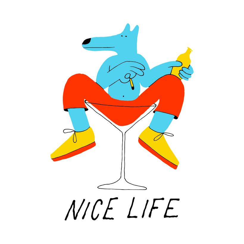 Nice Life T-shirt, Everpress, UK 0