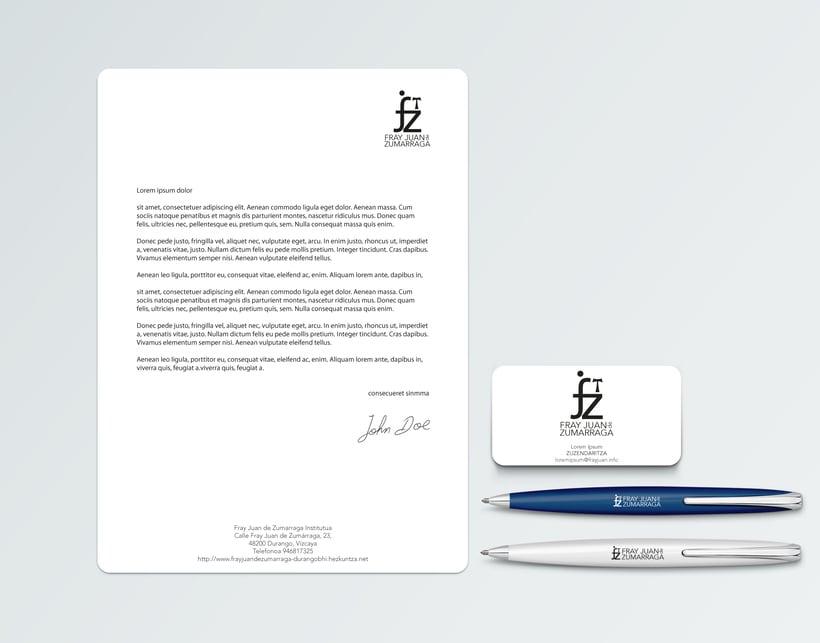 Propuesta renovación logotipo Instituto Fray Juan de Zumarraga 0