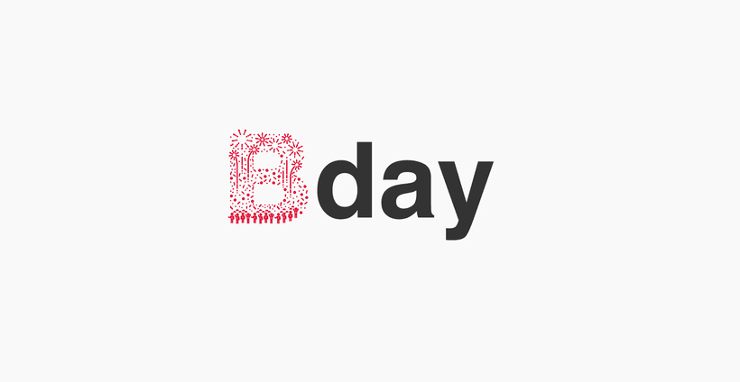 Typographic B·day Illustrations 0
