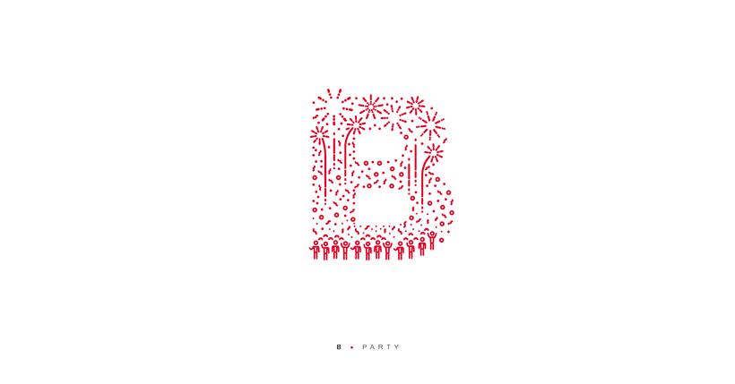 Typographic B·day Illustrations 7