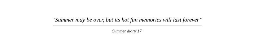 Summer diary 0