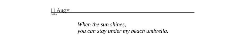Summer diary 12