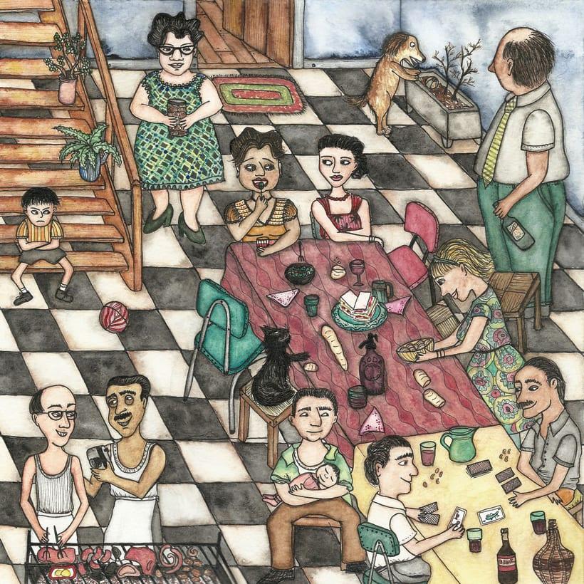 Inmigrantes- Ilustraciones finalistas en la 1ª bienal de ilustración solidaria de Ajudaris 2017. 0