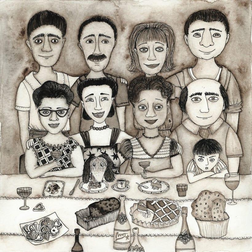 Inmigrantes- Ilustraciones finalistas en la 1ª bienal de ilustración solidaria de Ajudaris 2017. 1