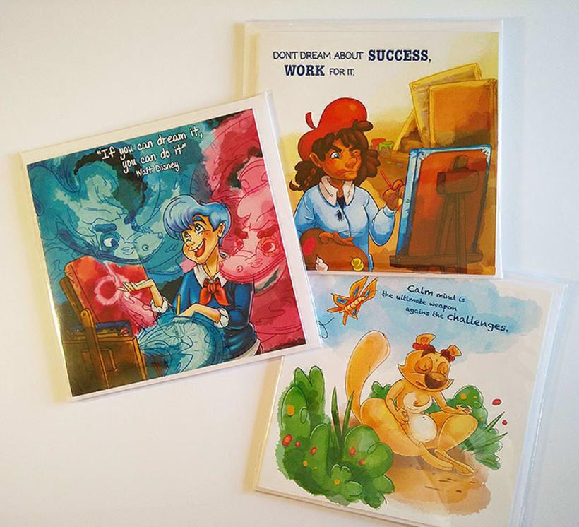 Postales con frases icónicas ilustradas 0