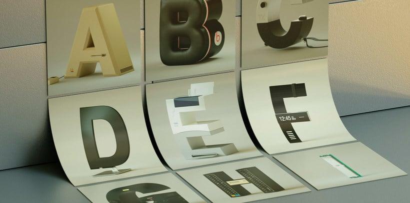 '36 days' de nostalgia tecnológica y tipográfica 3