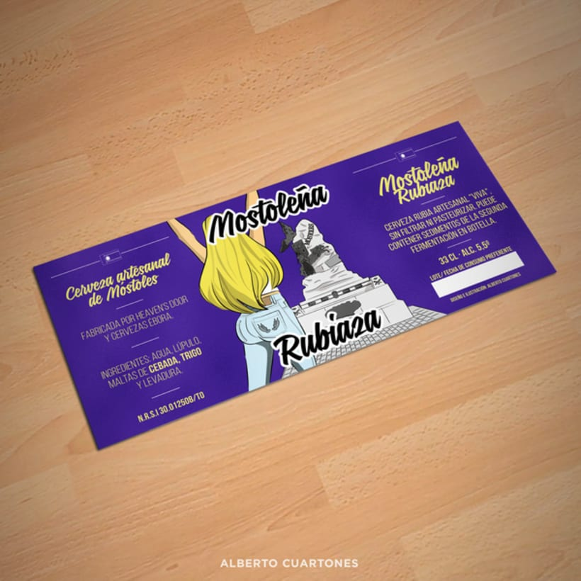 Etiqueta Mostoleña rubiaza 3