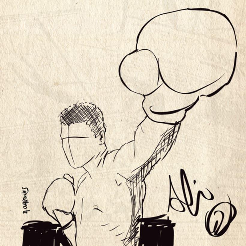 Ilustración Muhammad Ali  0