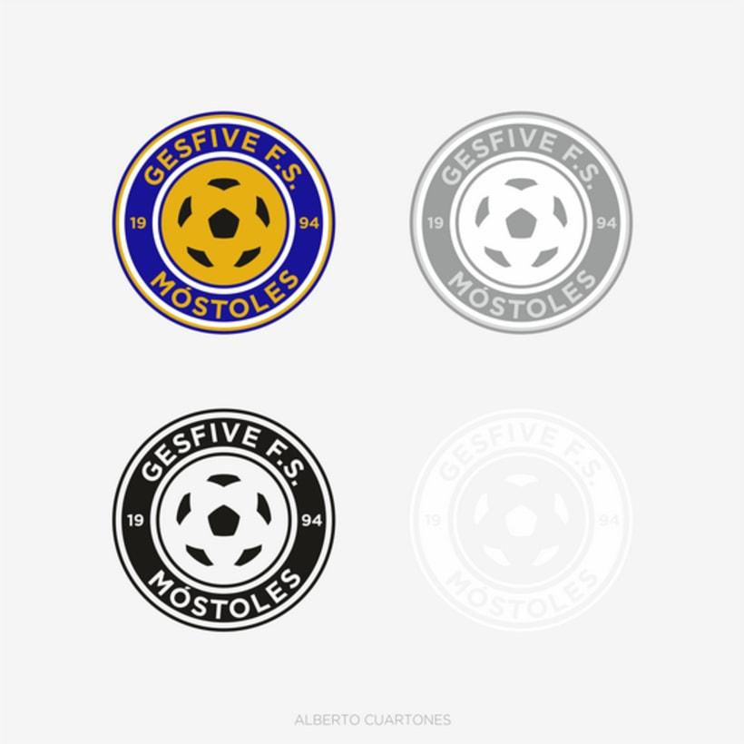 Rediseño escudo Gesfive Fútbol Sala 3