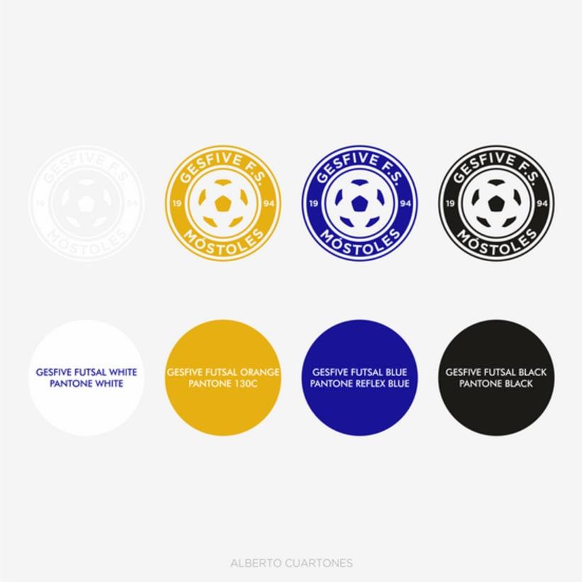 Rediseño escudo Gesfive Fútbol Sala 4