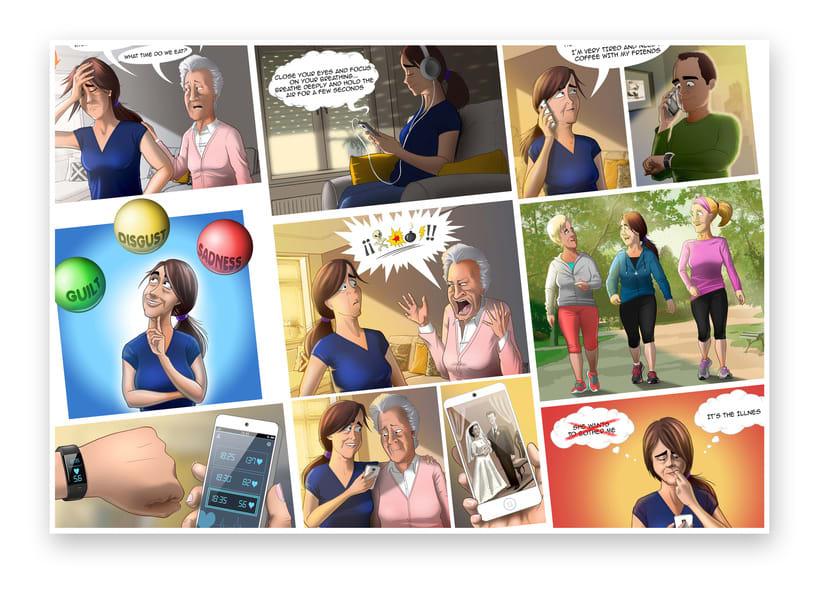 Ilustraciones para Proyecto de psicología de Universidad Rey Juan Carlos 1