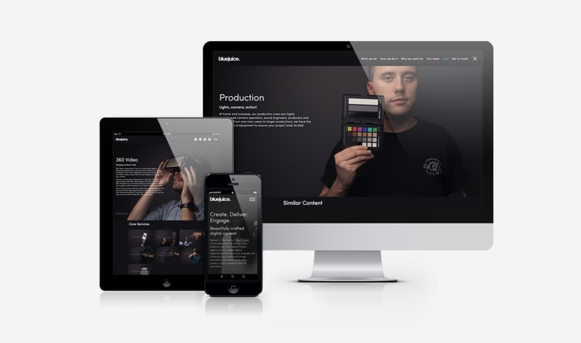 Website Design - Blue Juice 1