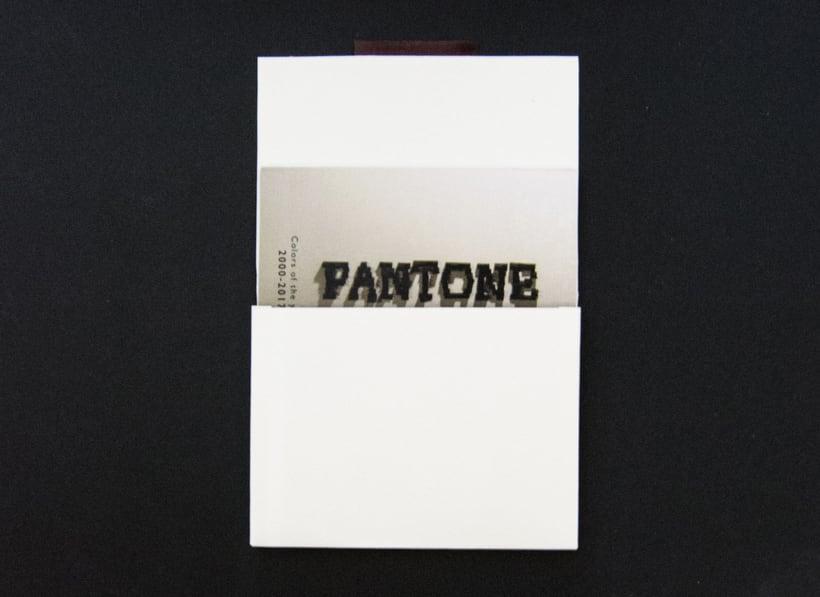 Tipografía Postales, camiseta y packaging Pantone Colors of the year 2010/17 2
