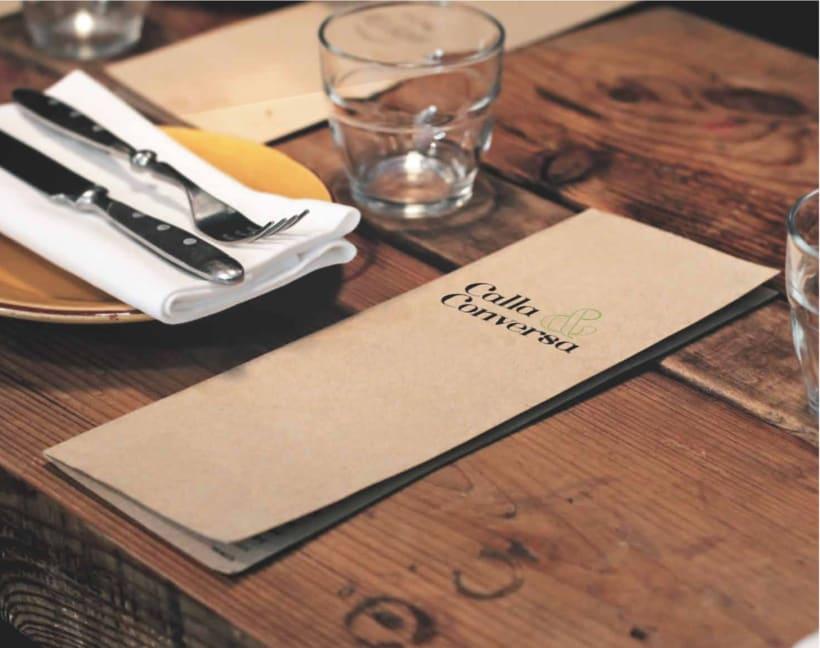 Identidad Naming y logotipo Restaurante Calla&Conversa 1