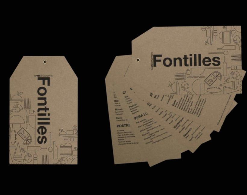 Identidad Cartas y logotipo Restaurante Fontilles 1
