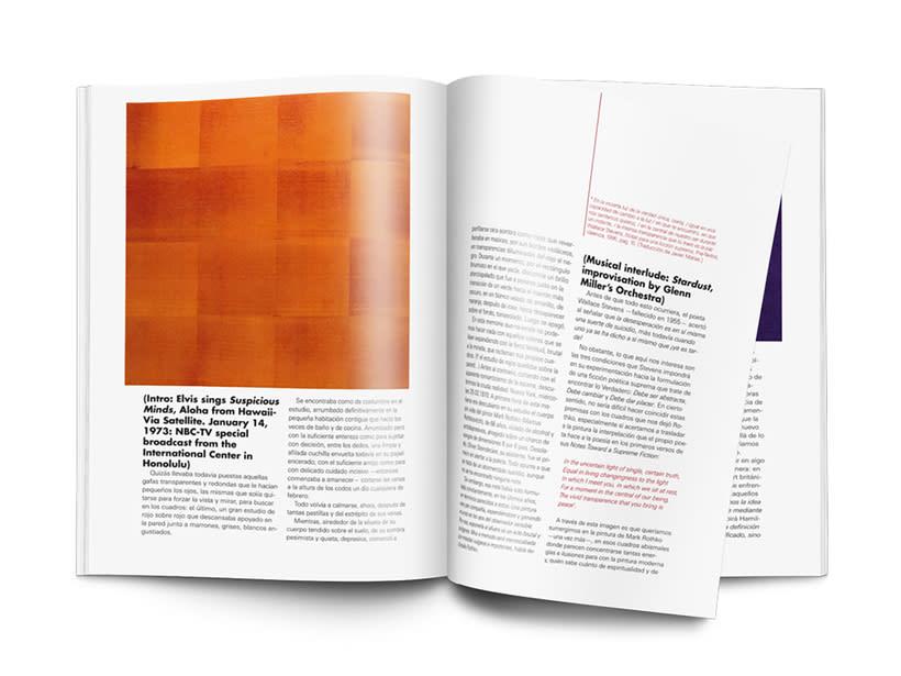 Editorial Naming maquetación de portada e interiores Revista SIZE 4