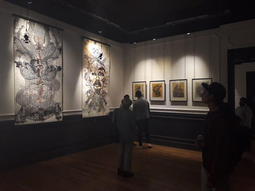 Collografías en gran formato. Exhibición en Centro Panteón. Mexico  2