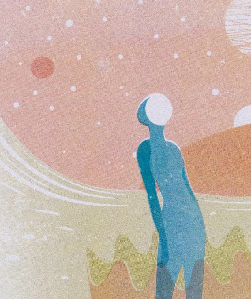 """Ilustración """"Elegante misticismo"""" 3"""