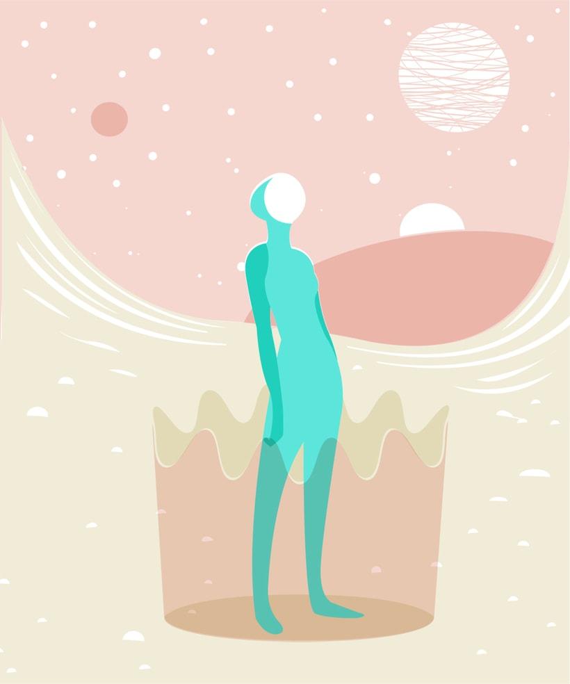 """Ilustración """"Elegante misticismo"""" 4"""