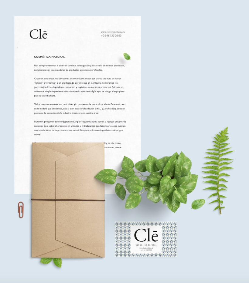 Identidad corporativa Naming, logotipo y packaging Clē cosméticos naturales 10