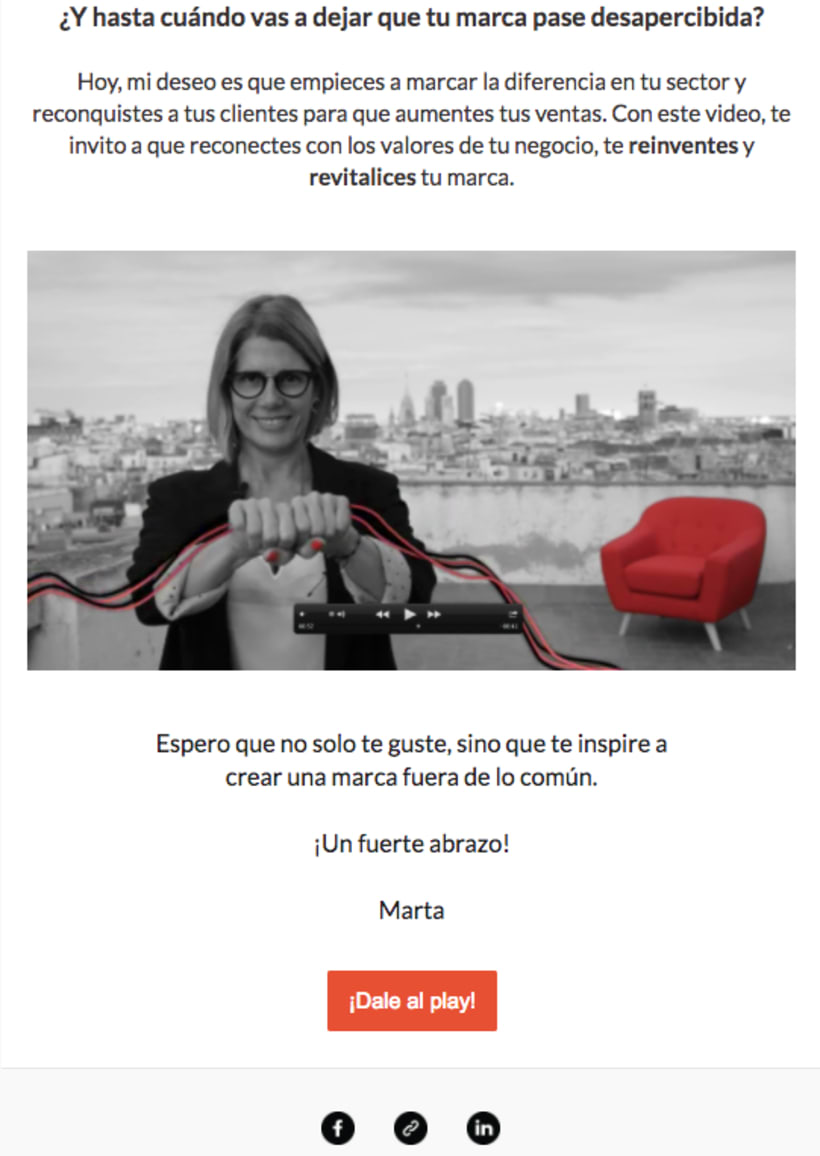 Video creativo + email para la marca Muac Design 1