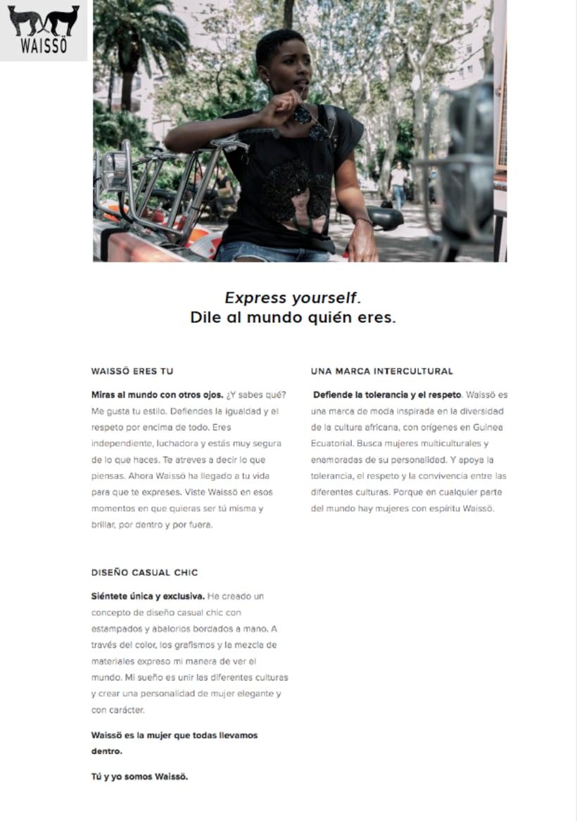 Copywriting web para Waissö Clothing -1