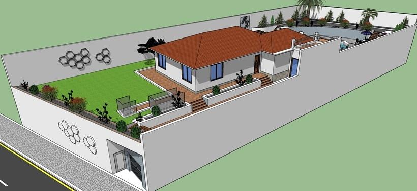 Casa y jardin con piscina -1