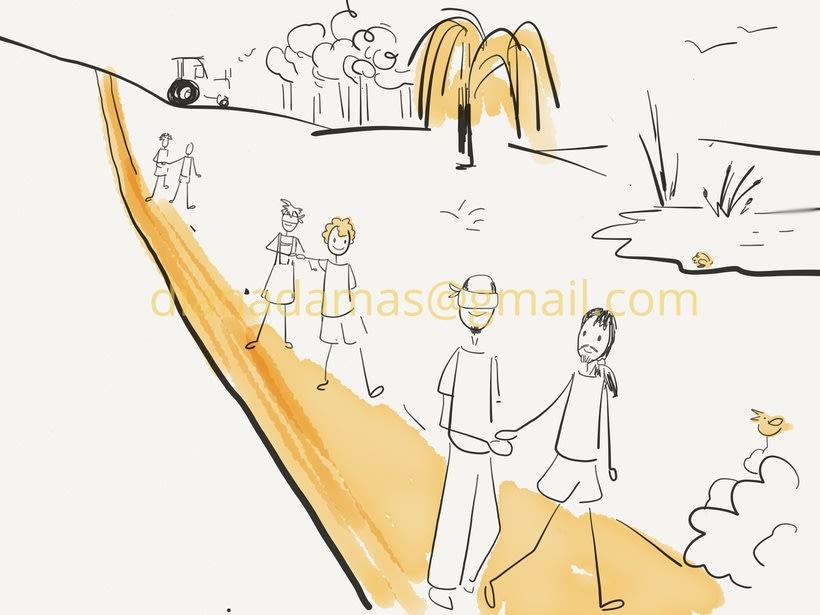 """Ilustraciones para el libro """"Juegos musicales en la naturaleza"""" 3"""