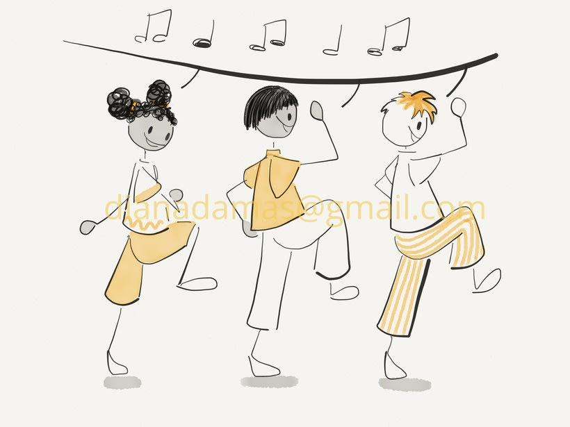 """Ilustraciones para el libro """"Juegos musicales en la naturaleza"""" 4"""