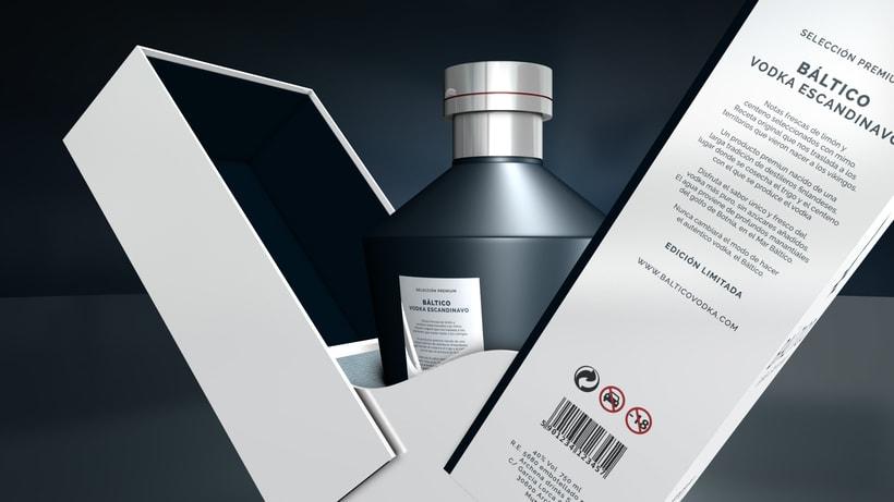 Báltico Vodka Escandinavo - Identidad y packaging 2